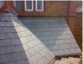 close mitered hip and valley on slate roof in chester